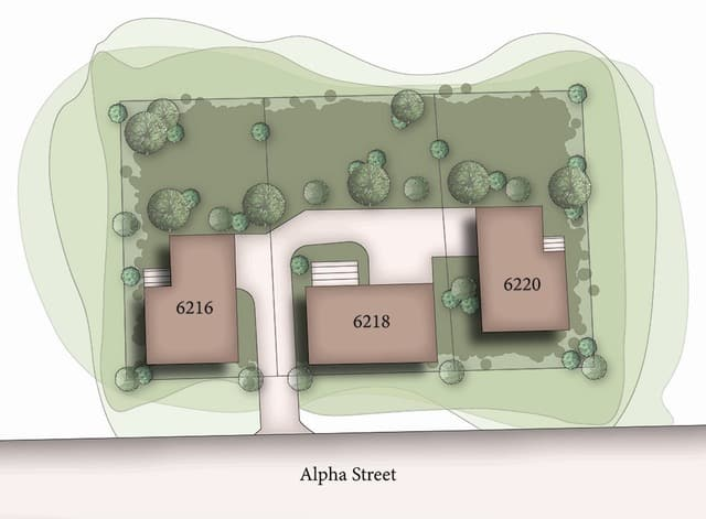 Alpha St. rough draft of site plan