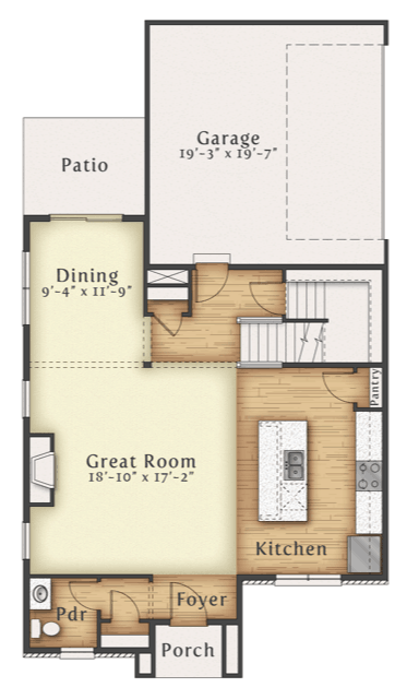 Taft 1st level floor plan